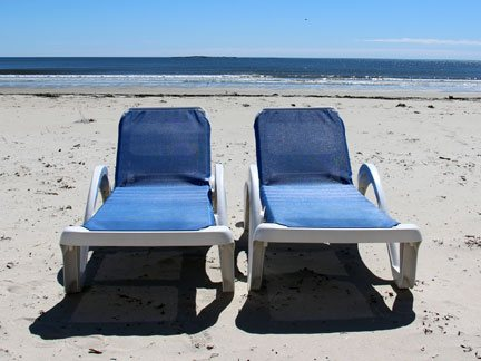 complimentary beach chairs